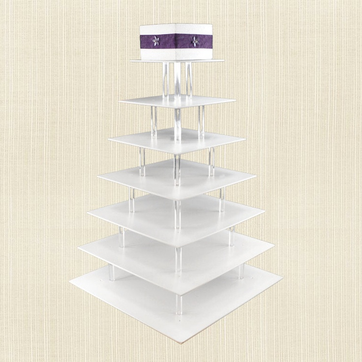 large wedding cupcake stand cake on top 7 tiered square dessert t