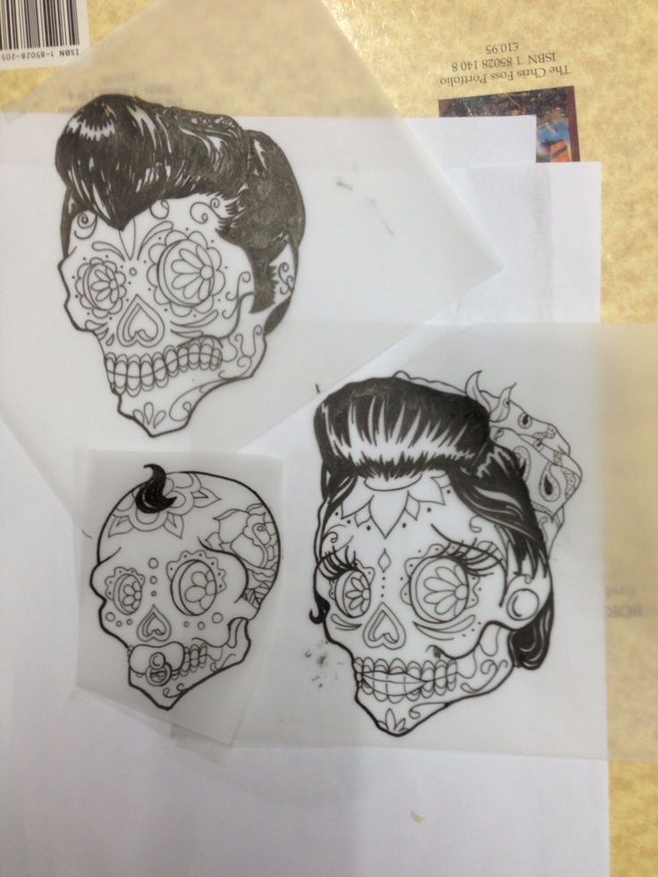 the gallery for rockabilly sugar skull tattoo. Black Bedroom Furniture Sets. Home Design Ideas