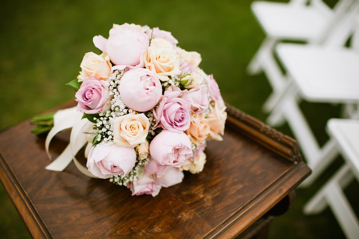 Bridal Bouquets With Cabbage Roses : Wedding bouquet cabbage roses beautiful things