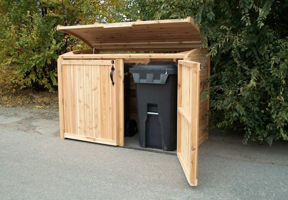 Storage Shed | Outdoor Living Today | 6x3 Oscar Trash Can Storage Shed