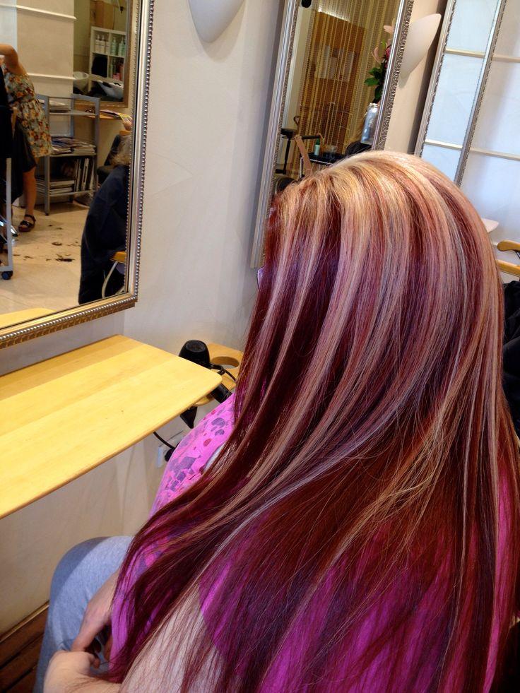 Red hair with blonde highlights - love | Hair ideas | Pinterest