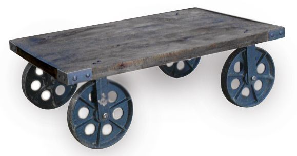 ... Industrial Coffee Table With Wheels  Industrial Coffee Table with