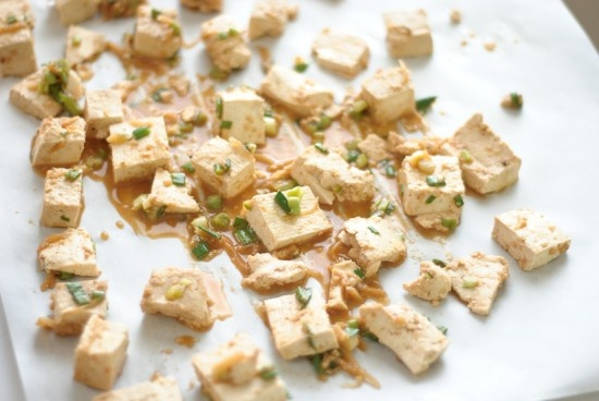 Roasted Tofu with Ginger Garlic Marinade | Recipe