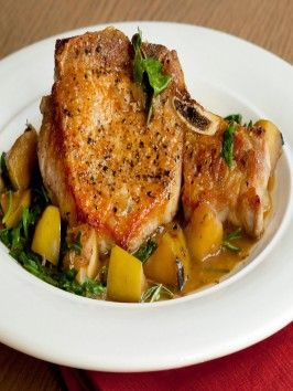 Pork Chops with Caramelized Apples and Arugula : Recipes : Cooking ...