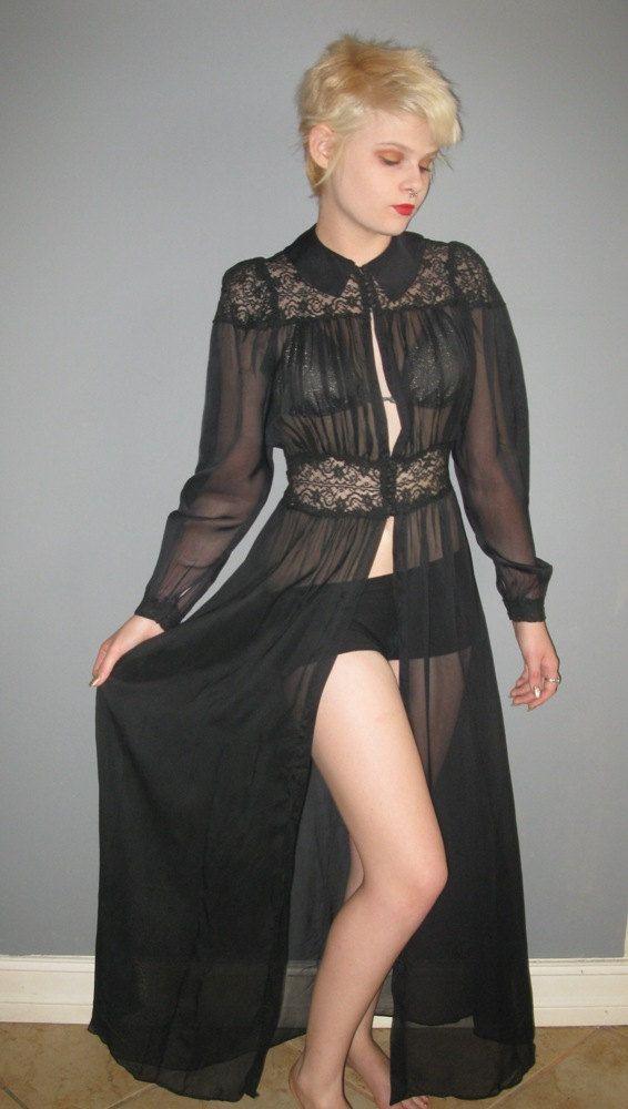 Go Stevie Nicks or go home black chiffon over dress lingerie