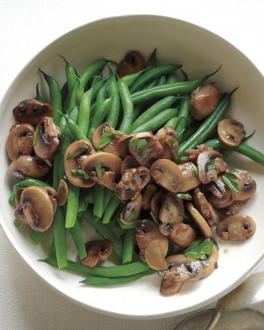 Green Beans with Sauteed Mushrooms and Garlic | Recipe