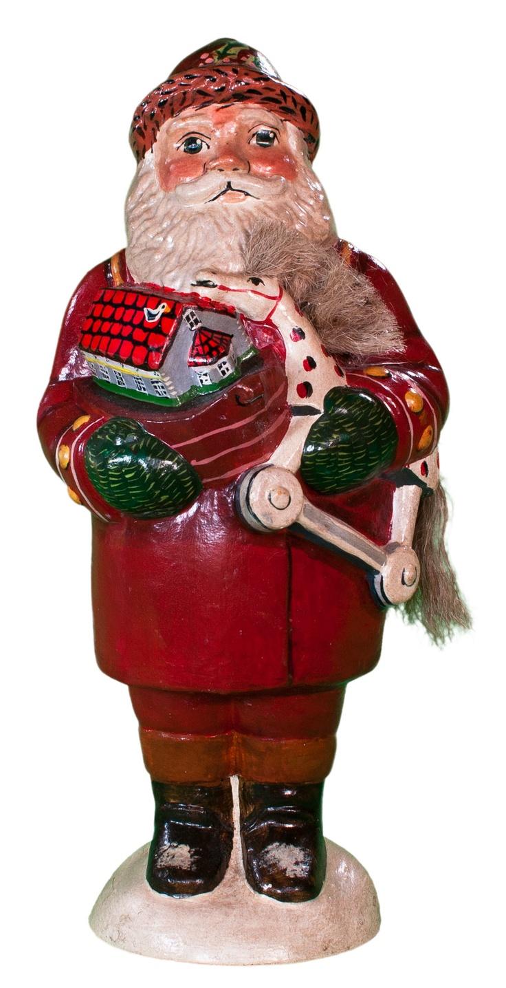 Santa holding Colonial Williamsburg toys from Vaillancourt Folk Art ...