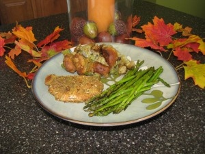 Pumpkin Pecan Crusted Pork Chop with Pumpkin Stuffing - Straight from ...