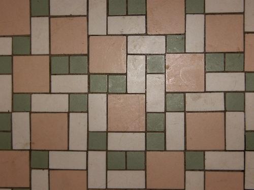 Vintage Bathroom Floor Tile Pattern