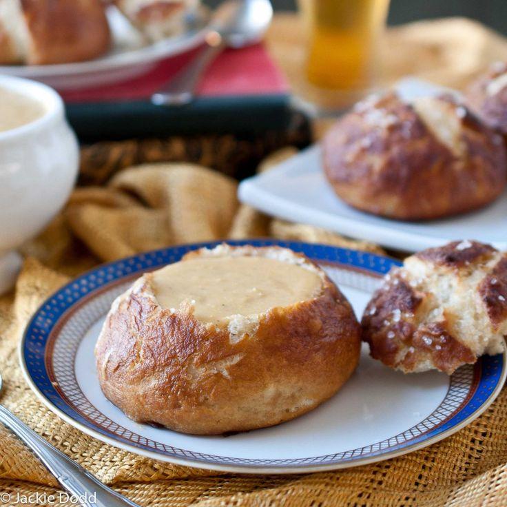 Beer Pretzel Bread Bowls & Oktoberfest   Recipe