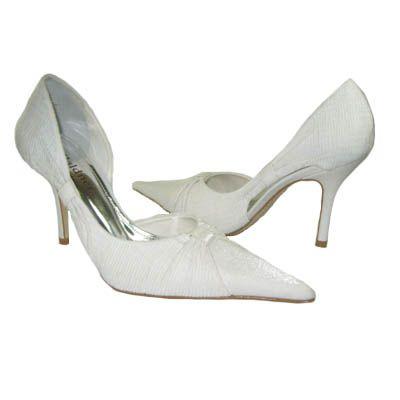 Scarpin Sequinho (sem brilho) Salto 9cm - branco - - PRT0036 De: R$210,00 Por: R$157,50