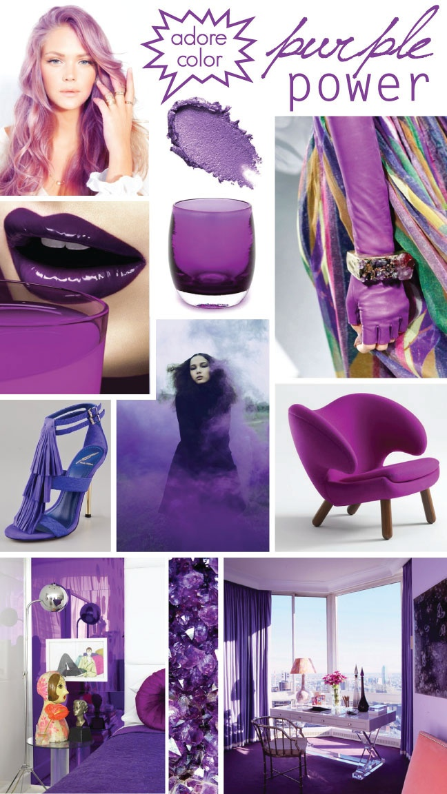 Purple Mood Board Style And Beauty Pinterest