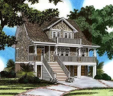 Raised House Plan Living