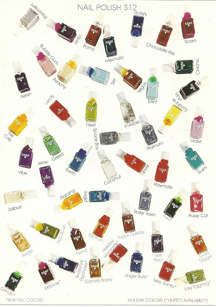 Hard Candy nail polish original release, 1996