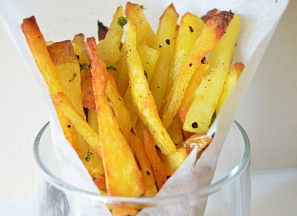 Baked Seasoned Fries With Skinny Garlic Aioli Recipe ...