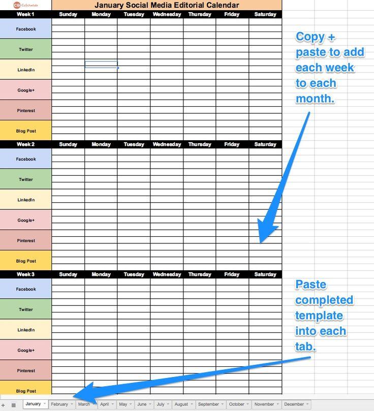 Editorial Calendar Template Excel
