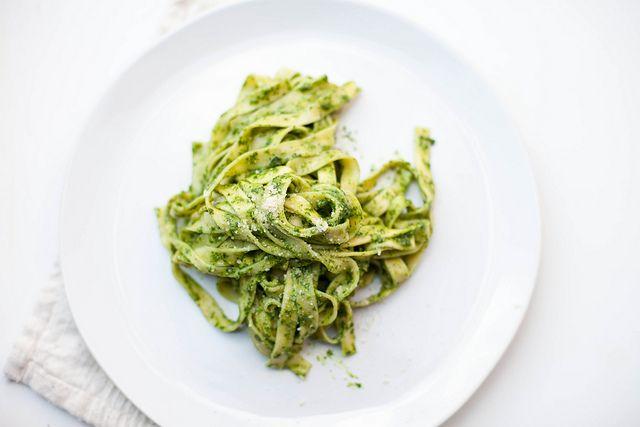 Arugula Pesto (great on gluten free pasta)