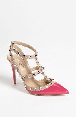 valentino noir rockstud heels