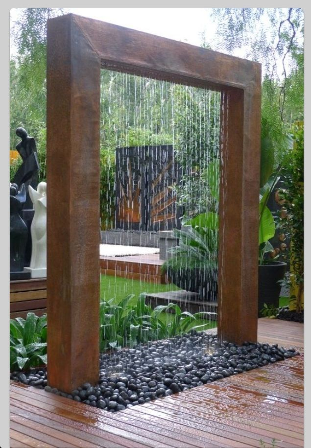 Unique water fountain garden ideas pinterest - Outdoor water fountain ideas ...