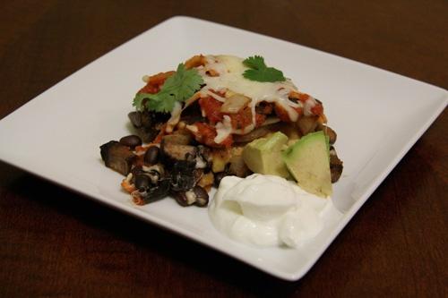 Mushroom-Black Bean Tortilla Casserole 1 T olive oil 1 pkg sliced ...