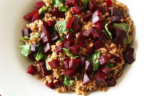 beet, arugula and farro salad | In a~ FARRO~ off land | Pinterest