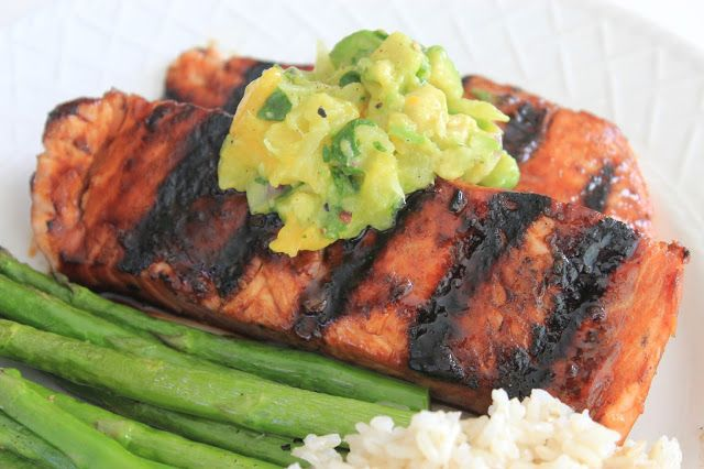 Deals to Meals: Teriyaki Grilled Salmon with Mango Guacamole