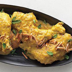 Chicken in Garlic-Almond Sauce   Recipe