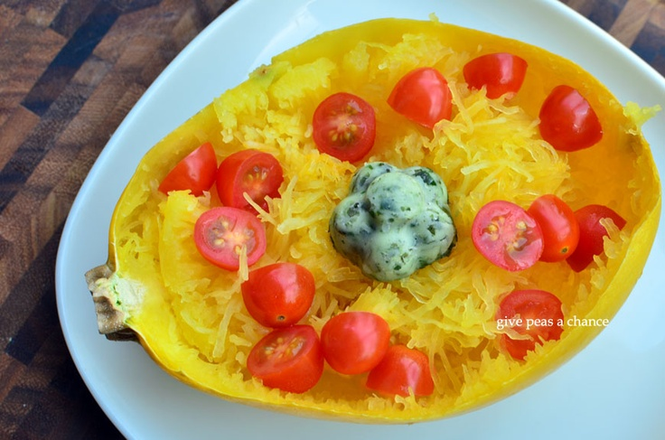 Tomato Basil Spaghetti Squash | Zucchini/Squash | Pinterest