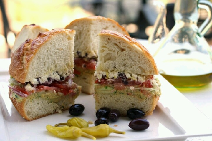 Greek Salad Sandwich | eat | Pinterest