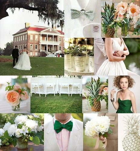 Pink instead of green bridesmaids dresses, southern wedding moodboard. http://media-cache8.pinterest.com/upload/271412315012776172_6IbMaDzk_f.jpg rachel_serene i do