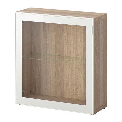 best shelf unit with glass door white stained oak effect. Black Bedroom Furniture Sets. Home Design Ideas
