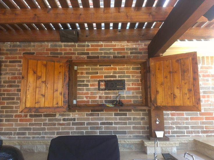outdoor tv cabinet pool outdoor kitchen pinterest