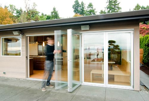 Milgard bifolding aluminum patio doors Exteriors