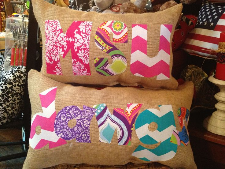 MSU pillows Located at Curios in Carthage, MS