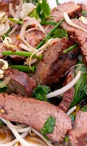 Thai-Style Marinated Flank Steak and Herb Salad | Recipe
