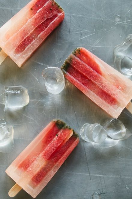 Watermelon mojito popsicles. | Food & Beverage | Pinterest