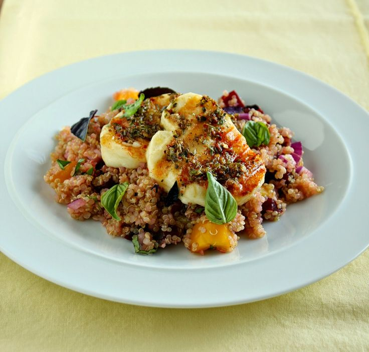 ... Clouds and Lemon Drops: Grilled Halloumi with Quinoa & Beetroot Salad