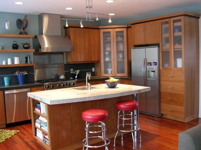 Kitchen #Cabinets  RTA Kitchen Cabinets With Glass Cabinets