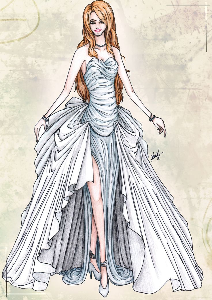 How To Draw DressesFashion Hi There This Is A Wedding Dress Or