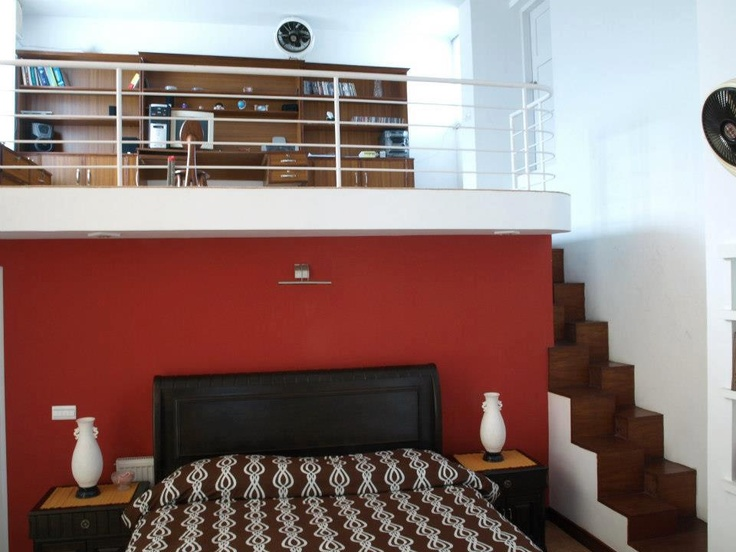 Split Level Master Bedroom With A Private Study On The