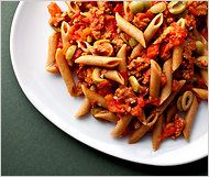 Recipe - Recipe - Pasta With Spicy Sausages, Tomatoes, Rosemary and ...