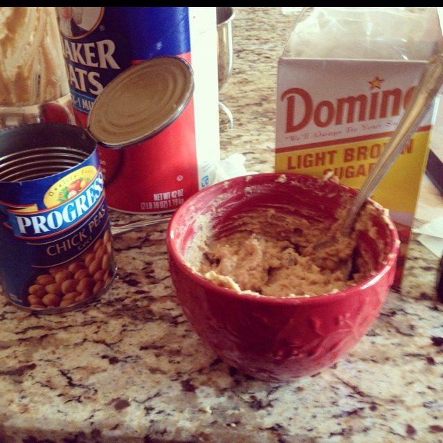 Healthy cookie dough dip! Watching my family's reactions were ...