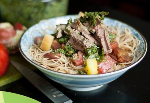 "... and Salsa Verde Pasta (aka ""Spaghetti Western"") Recipe. Vamoose"