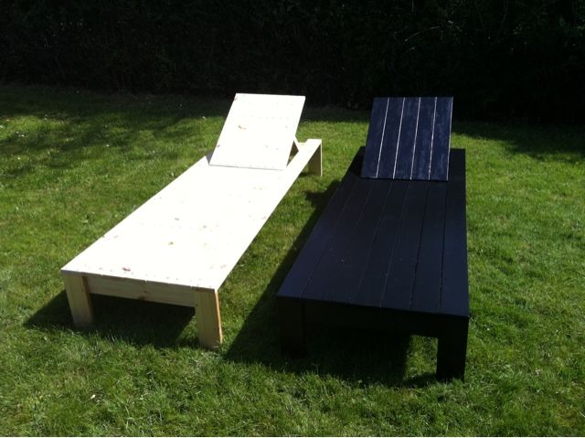 DIY Chaise Lounge Chairs Single Lounger Home ╔══╗ Garden