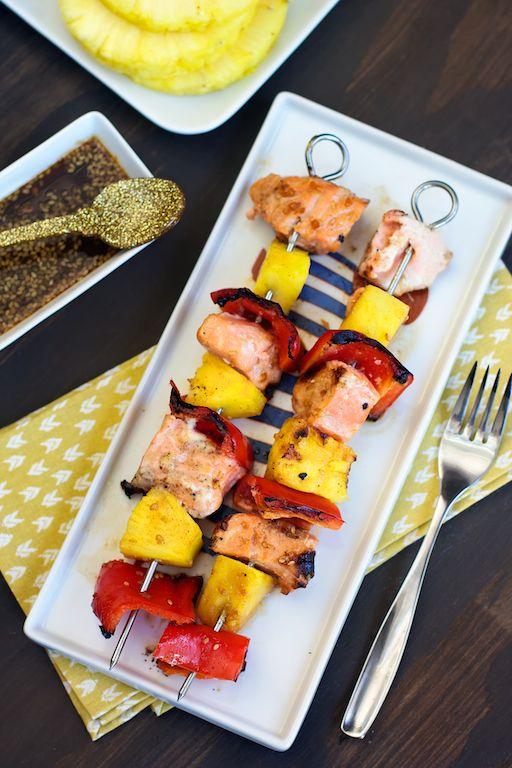 with grilled salmon ed baines salmon skewers salmon teriyaki skewers ...
