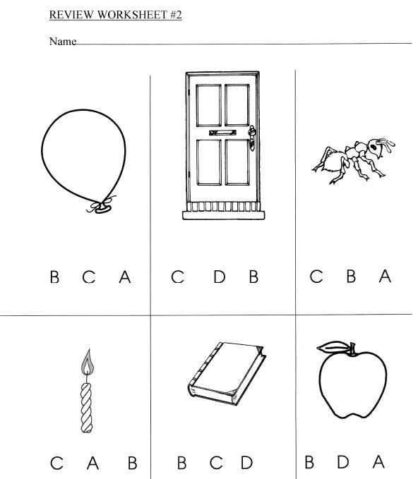 Review Pages, Games, Worksheets - This unit includes alphabet review ...