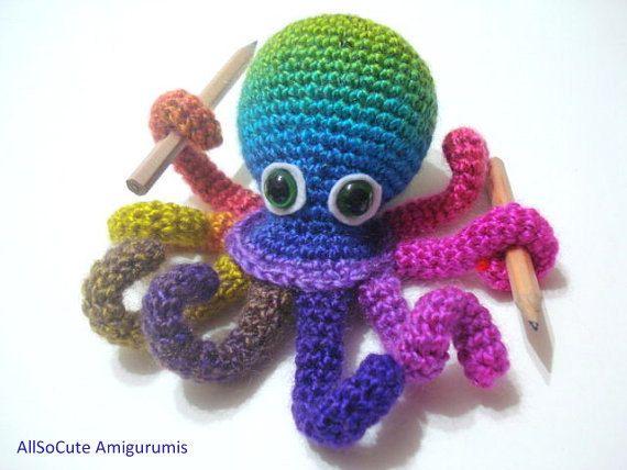 Amigurumi Crochet Tutorial : Crochet Tutorial, Octopus, Amigurumi Crocheted Octopus Pattern