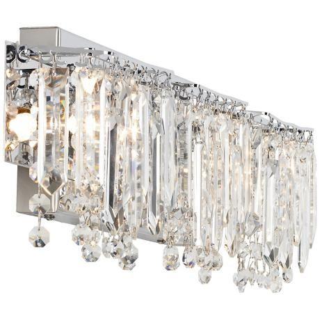 Vanity Lights With Crystals : Possini Euro Crystal Strand 25 3/4