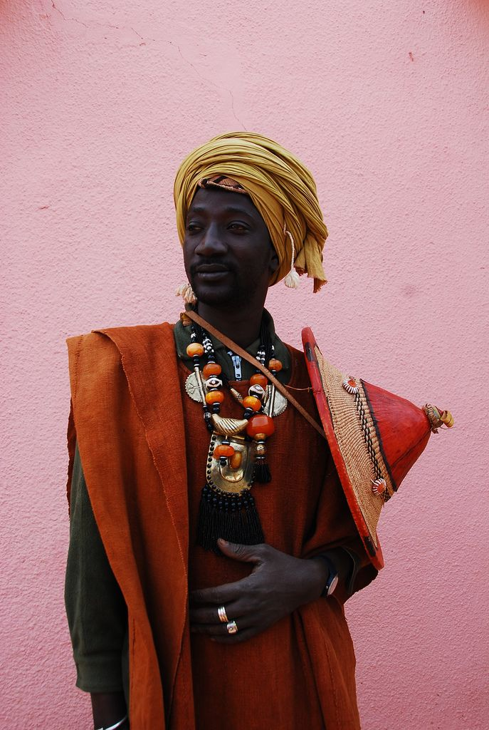 Africa |  Portrait of a Peul/Fulani man in Mopti.  Mali