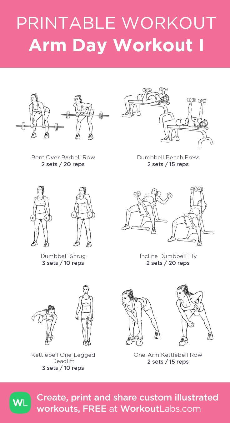 Comprehensive image regarding printable arm workouts